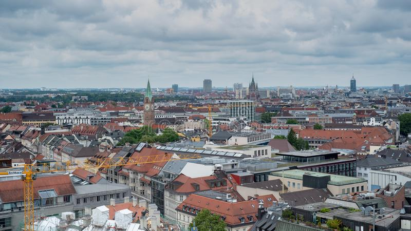 慕尼黑一般鸟瞰图从塔的 免版税图库摄影