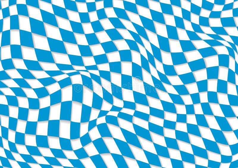 慕尼黑啤酒节抽象几何波浪样式 向量例证
