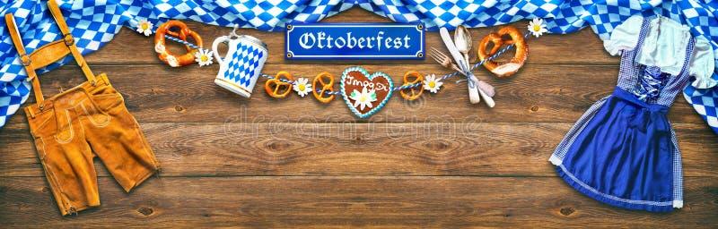 慕尼黑啤酒节的土气背景 免版税库存照片