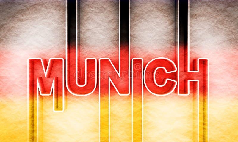慕尼黑市名字 皇族释放例证