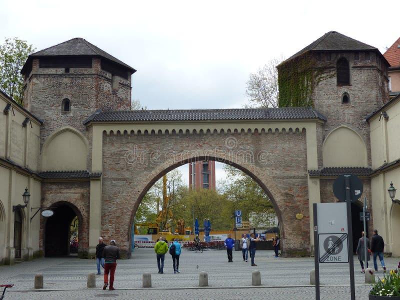 慕尼黑的Sendlinger哥特式大门 ?? 库存照片