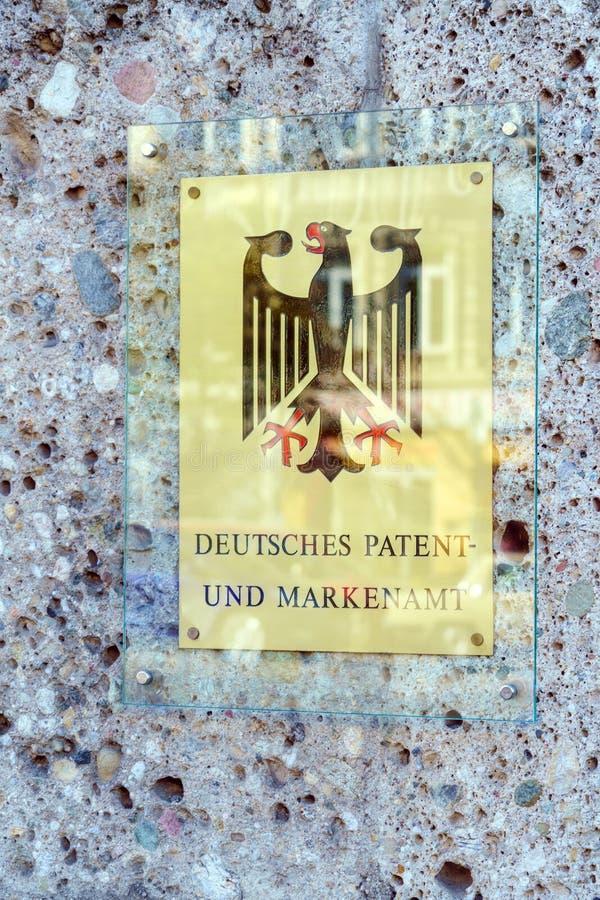 慕尼黑,德国- 2017年10月20日:Germa的墙壁牌 免版税库存图片