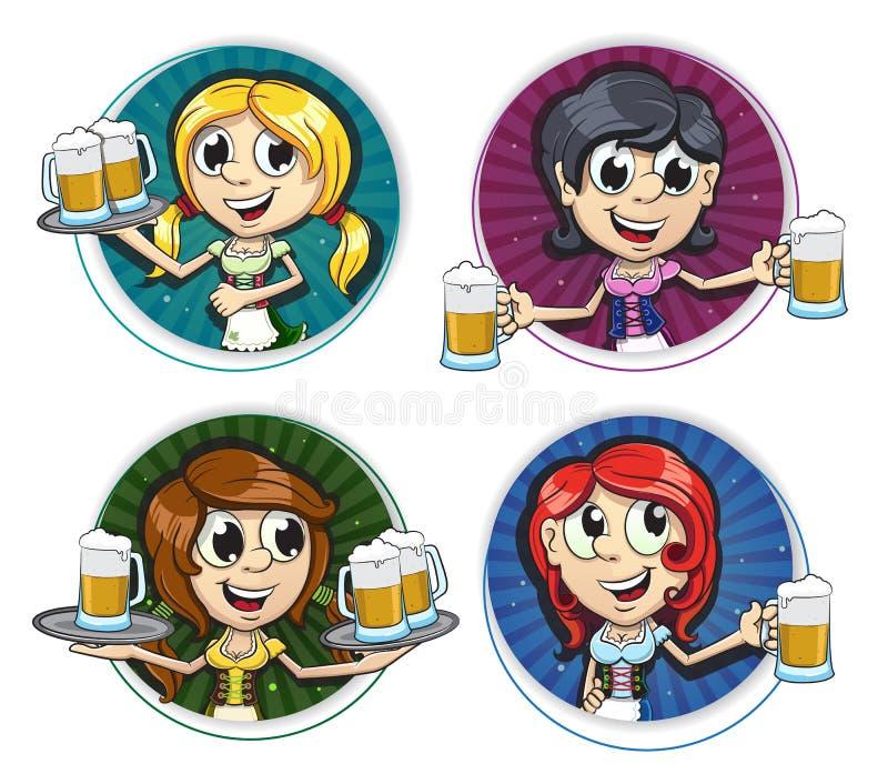 慕尼黑啤酒节女孩 皇族释放例证