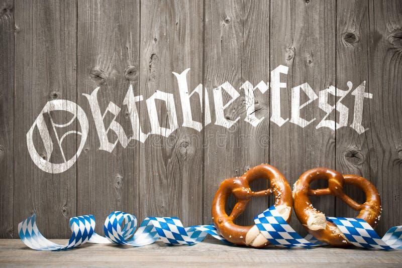 慕尼黑啤酒节的背景 免版税库存图片