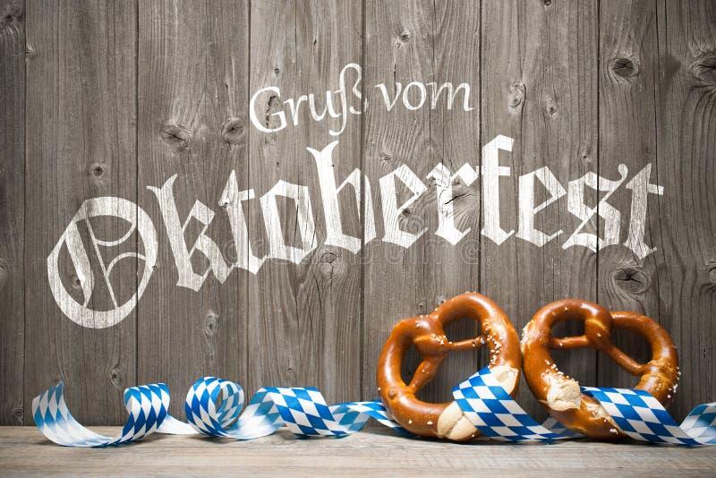 慕尼黑啤酒节的背景 库存照片