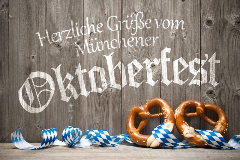 慕尼黑啤酒节的背景 免版税库存照片