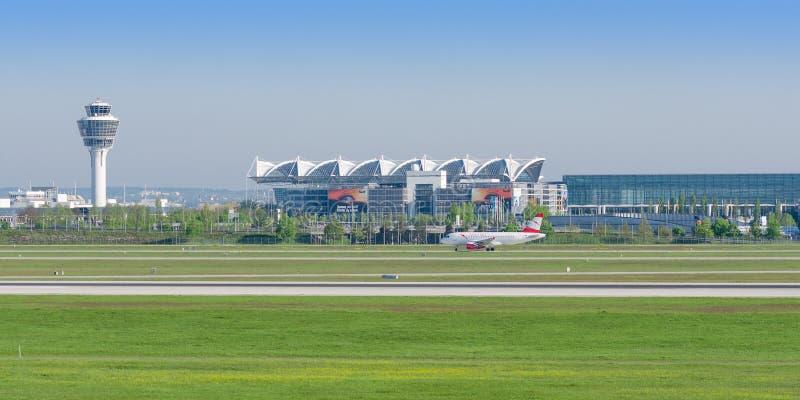 慕尼黑国际机场被命名以记念弗朗兹约瑟夫史特劳斯 库存照片