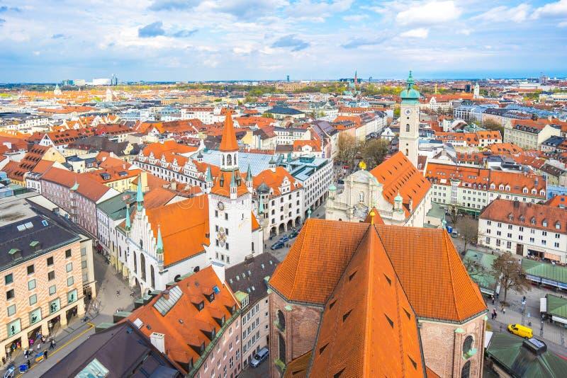 慕尼黑地平线在慕尼黑,德国 库存图片