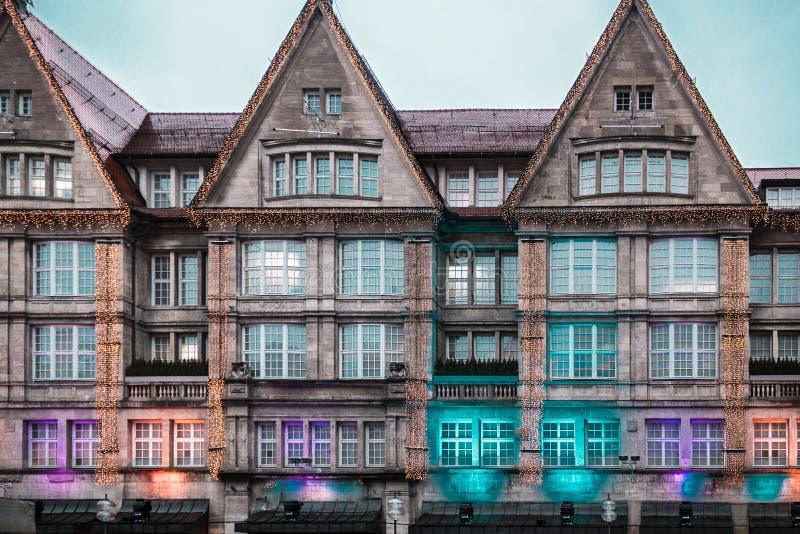 慕尼黑大厦和房子,德国 免版税库存照片