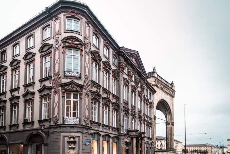 慕尼黑大厦和房子,德国 库存照片
