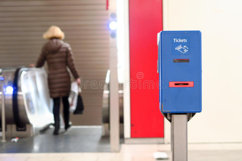慕尼黑票validator 免版税库存图片