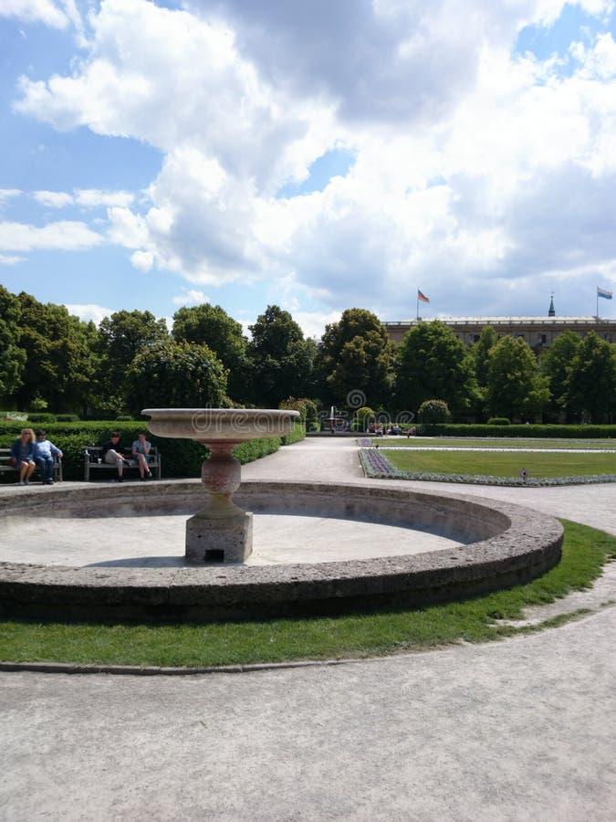 慕尼黑英国庭院 库存照片