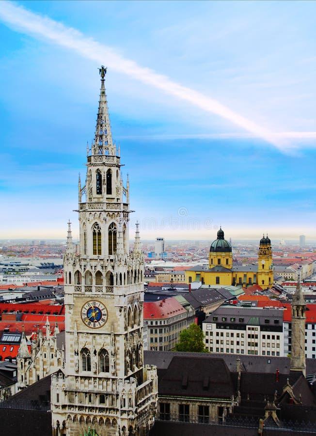慕尼黑都市风景  免版税图库摄影