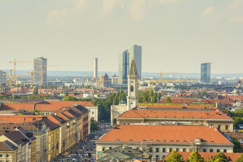 慕尼黑,鸟瞰图 免版税库存照片