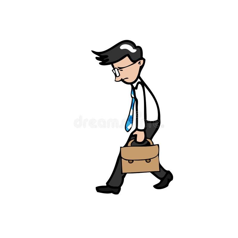 慢商人步行和尝试 皇族释放例证