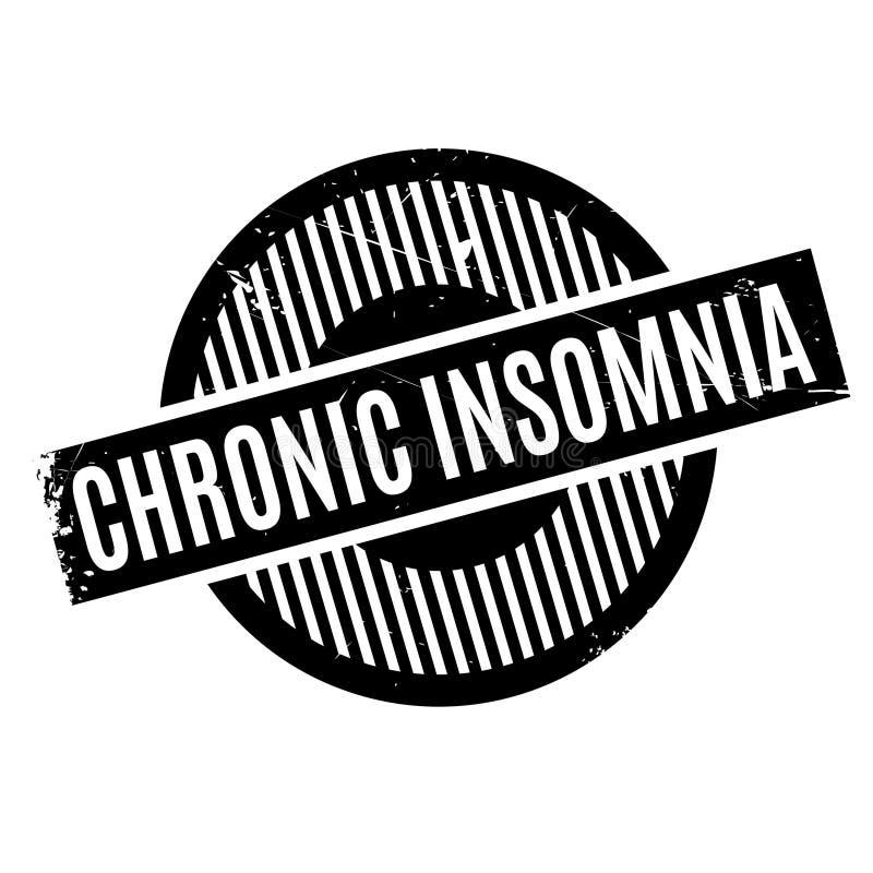 慢性失眠不加考虑表赞同的人 向量例证