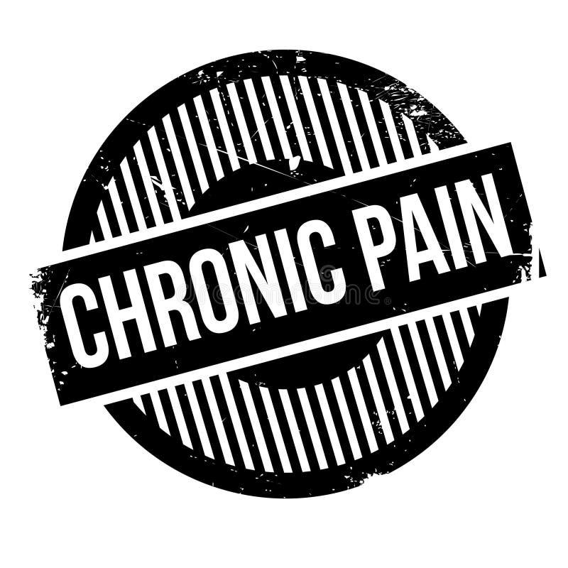 慢性痛苦不加考虑表赞同的人 库存例证