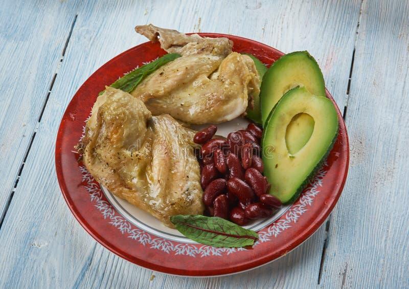 慢烹饪器材Tex-Mex鸡翅 图库摄影