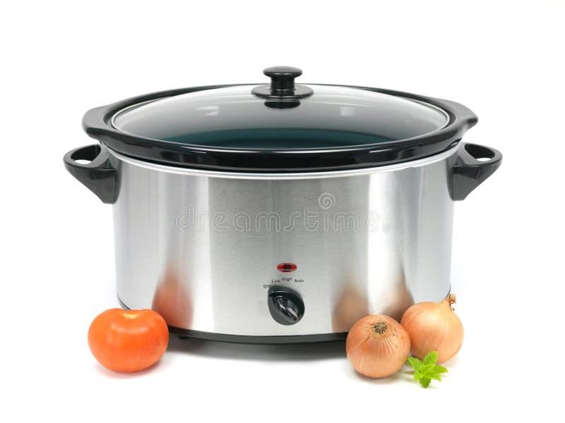 慢的烹饪器材 免版税库存照片