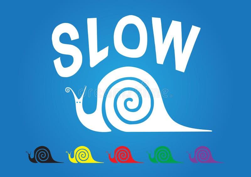 慢的蜗牛 向量例证