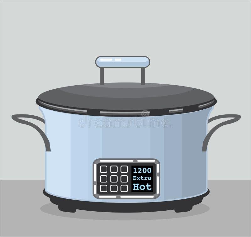慢蒸煮的缸罐传染媒介 向量例证