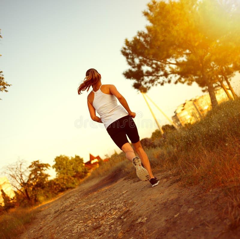 慢跑者妇女 图库摄影