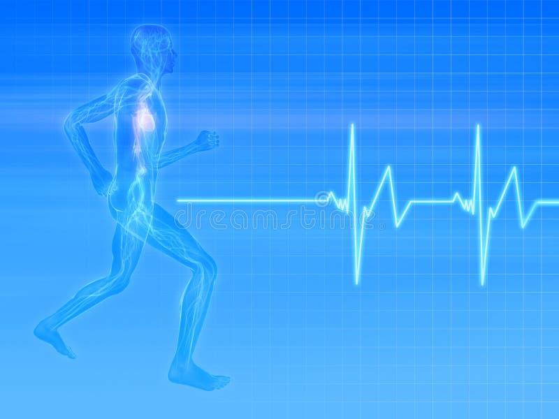 慢跑者脉冲 向量例证