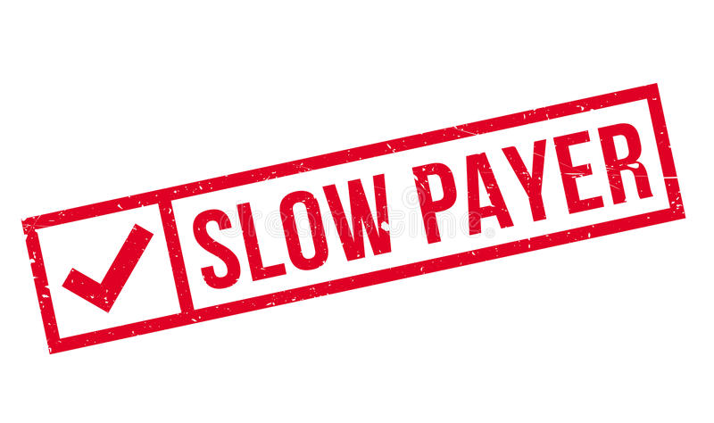 慢付款人不加考虑表赞同的人 库存例证