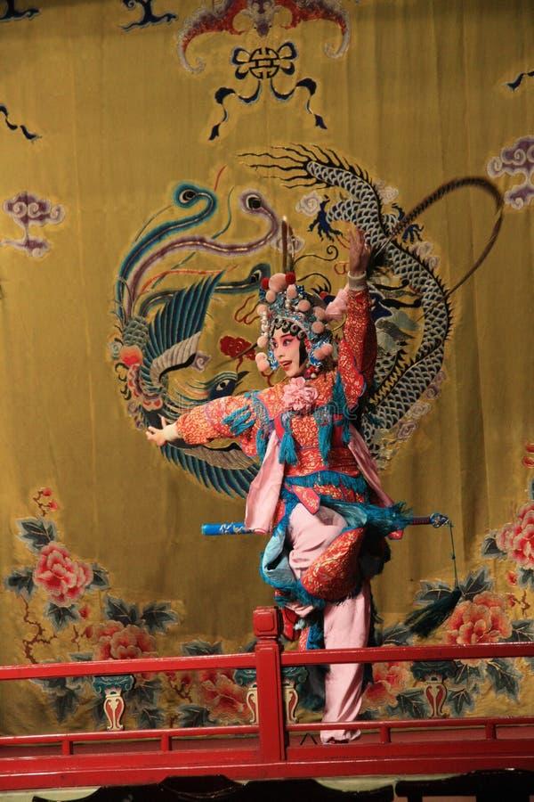 慷慨激昂的妇女,湖广剧院:京剧 库存照片