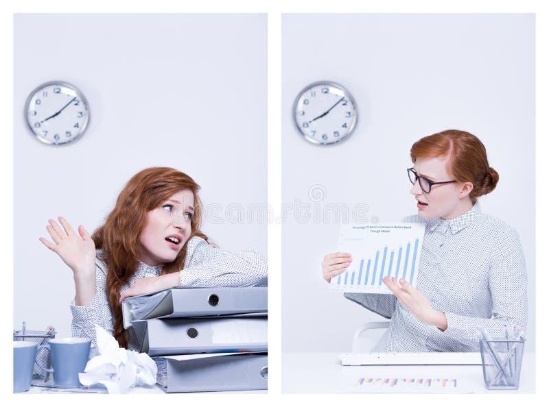 懒惰和纯谨的工作者 免版税库存照片