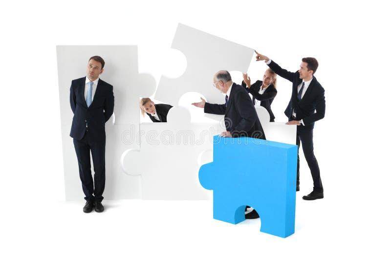 懒惰商人概念 免版税库存照片