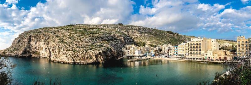 戈佐岛海岛全景-马耳他 免版税库存图片