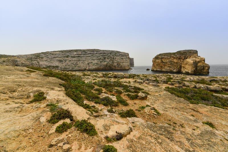 戈佐岛海岛,马耳他 库存照片
