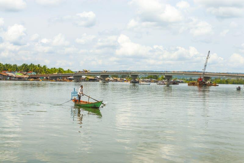 戈公省在柬埔寨 图库摄影