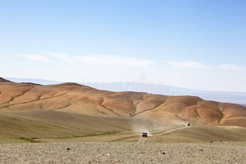 戈壁 蒙古 免版税库存照片