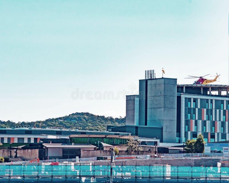 戈斯福德医院大厦进展H26ed 2018年9月 库存照片