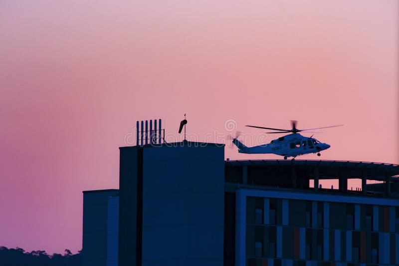 戈斯福德医院大厦进展H30ed 2018年9月 免版税库存照片