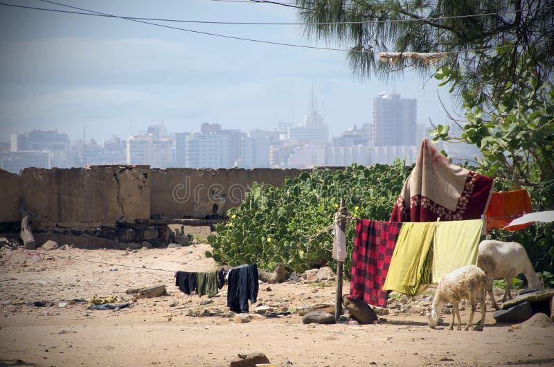 从戈雷岛海岛的达喀尔视图 库存照片