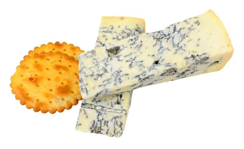 戈贡佐拉Piccante乳酪楔子 免版税库存照片