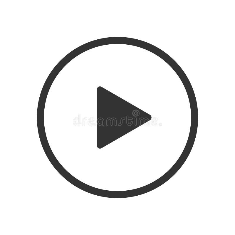 戏剧录影按钮传染媒介象 库存例证