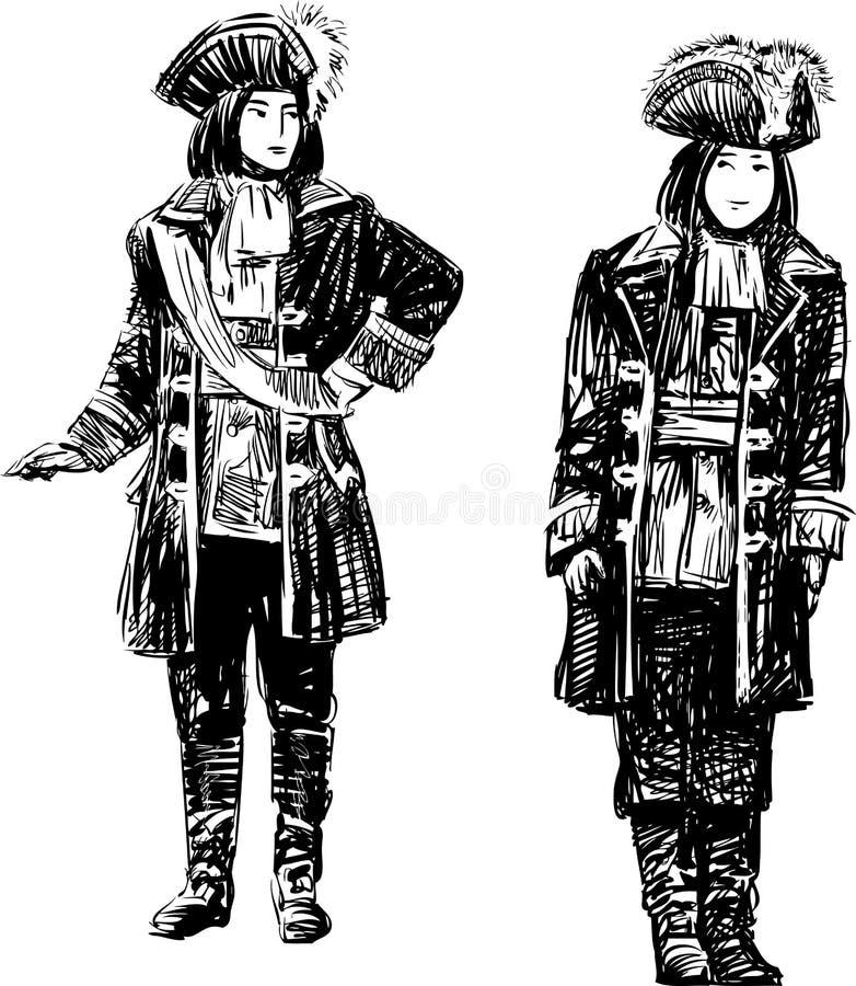 Download 戏剧性服装的人 向量例证. 插画 包括有 帽子, 服装, 历史, 成人, 军事, 葡萄酒, 人员, 绅士 - 72362628