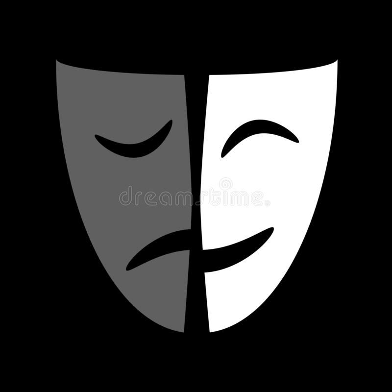 戏剧性面具图表象 库存例证