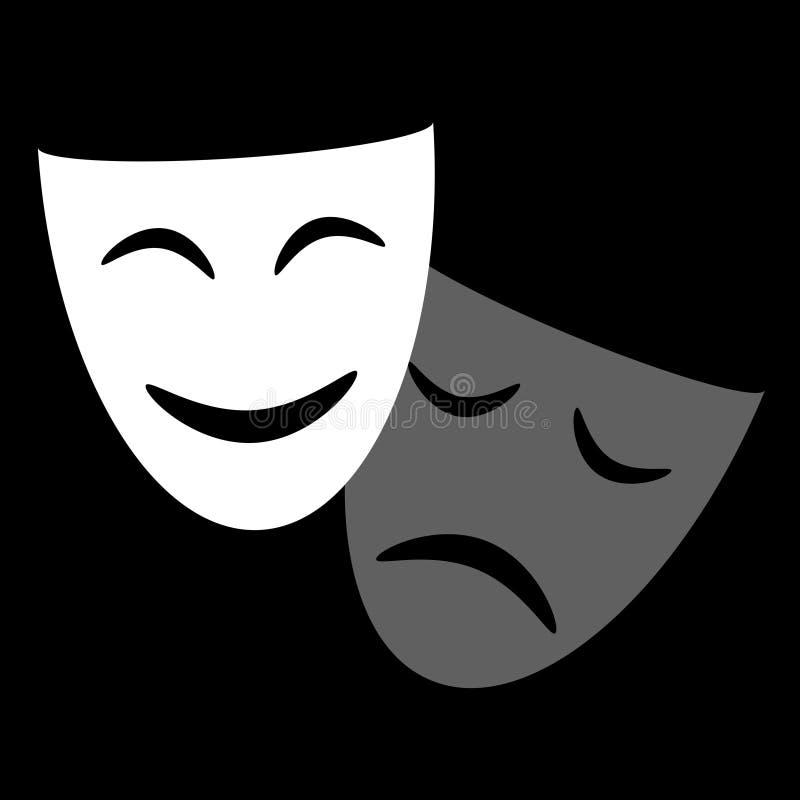 戏剧性面具图表象 皇族释放例证