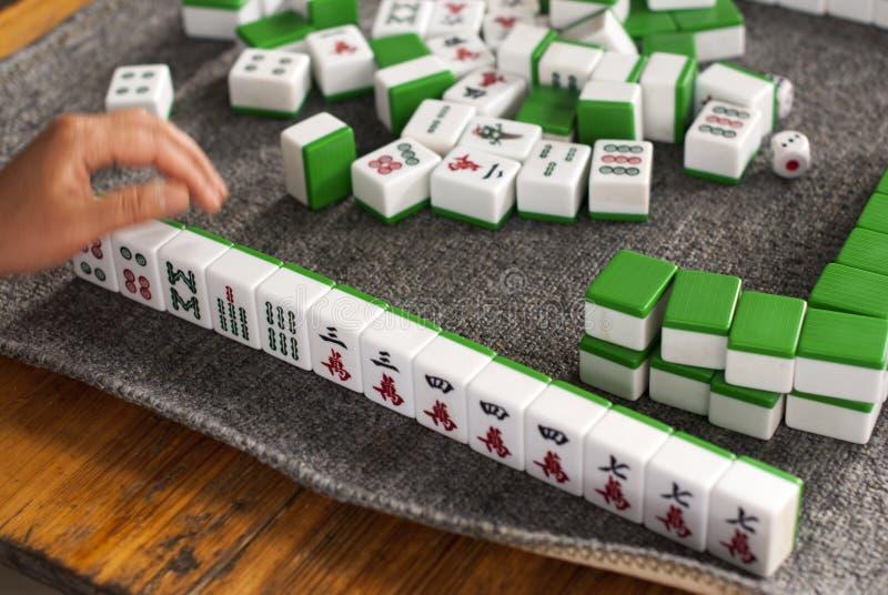 戏剧mahjong 向量例证