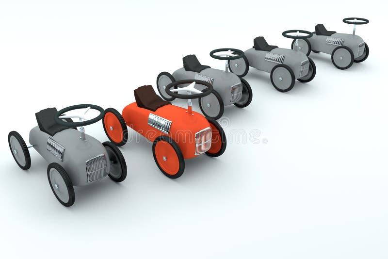 玩具汽车汇集 向量例证