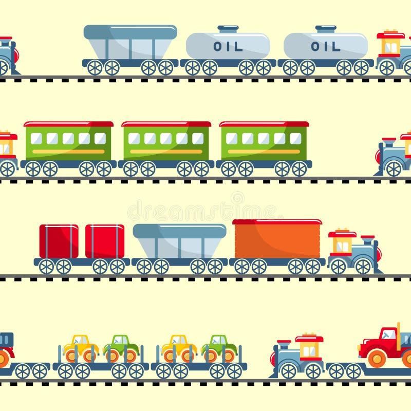 戏弄铁路无缝的样式 皇族释放例证