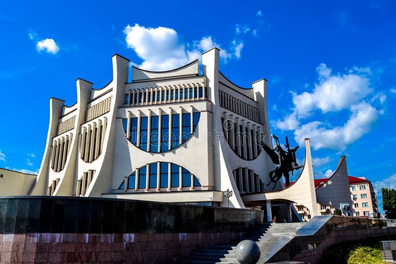 戏曲剧院在哥罗德诺在夏天,白俄罗斯 库存图片