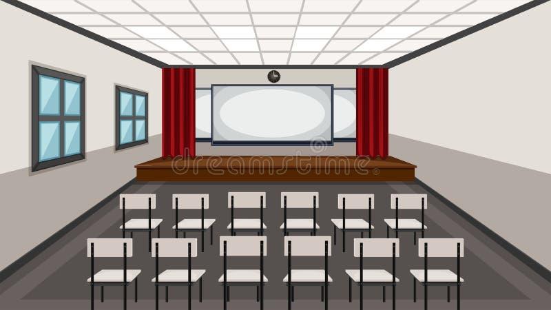 戏曲教室内部  向量例证
