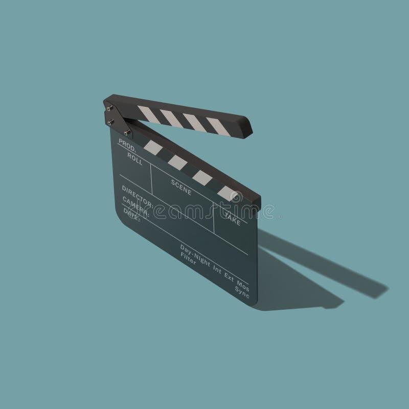 戏院和电影摄制的Clapperboard 皇族释放例证