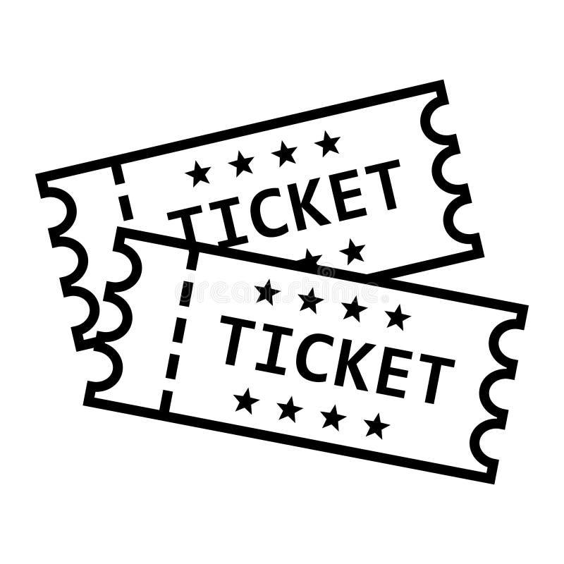 戏院在平的样式的票象 承认在白色被隔绝的背景的一个优惠券入口传染媒介例证 票事务co 皇族释放例证